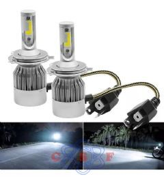 Kit Lâmpada Farol Ultra Led Gold ORPARTS H4 32W 12V/24V 6000K 6000 Lumens